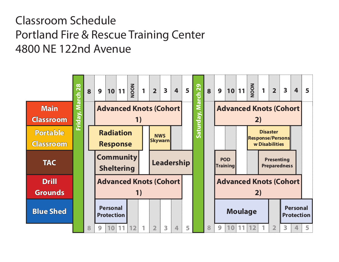 Citizen Corps Expo Schedule 2014